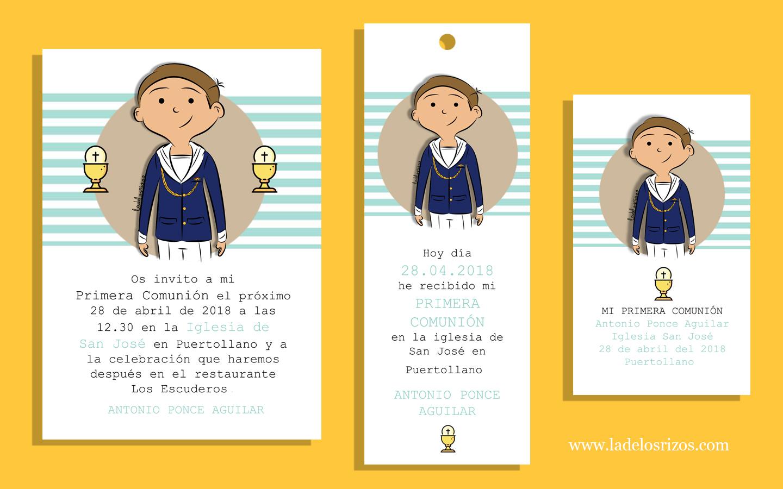 Diseño tarjeta comunión